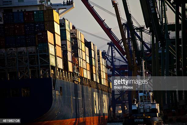 Port of Rio de Janeiro located on the shore of Guanabara Bay leaseholders at the Wharf of the Cashew operate terminals for containers
