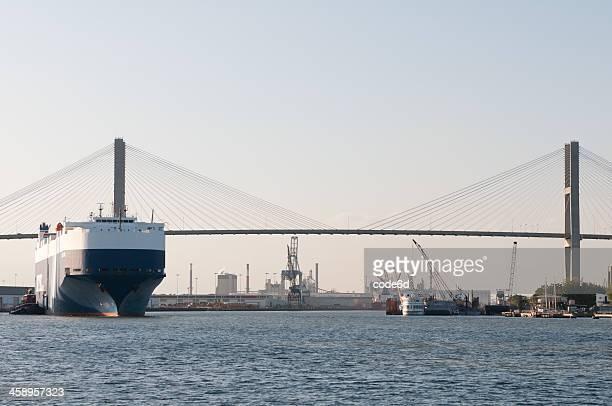 port of savannah, georgia, usa - port of savannah stock pictures, royalty-free photos & images