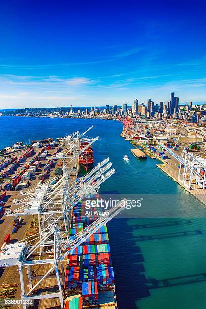 Port of Seattle Washington Aerial