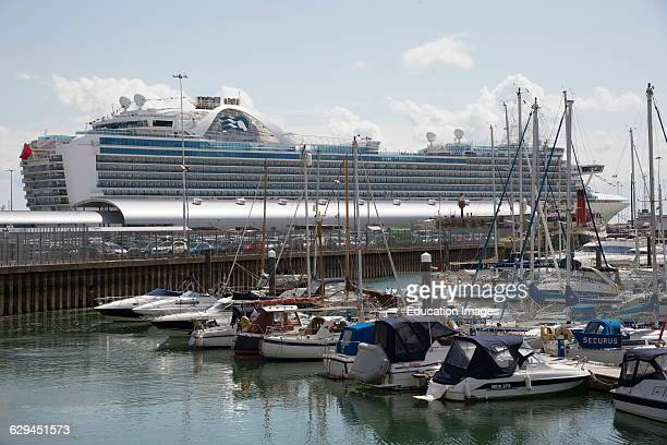 Port of Southampton England UK The Ruby Princess cruise liner