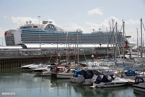 Port of Southampton England UK The Ruby Princess cruise liner.