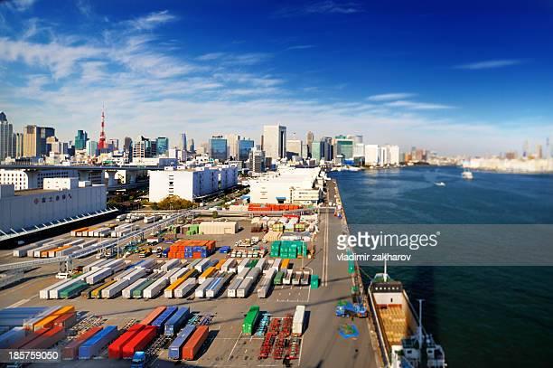 Port of Tokyo bird's -eye view