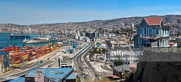 port of valparaiso, chile - pierre yves babelon stock pictures, royalty-free photos & images