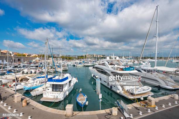 Port of Vauban and yachts, at Antibes, Alpes Maritimes, France