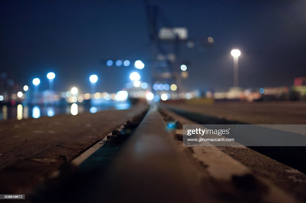 Port rails : Stock Photo