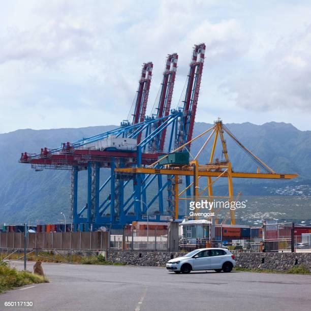 port réunion est - gwengoat stockfoto's en -beelden