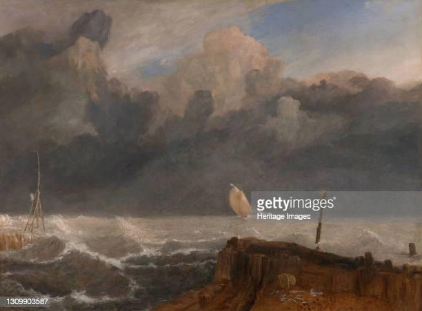 Port Ruysdael, between 1826 and 1827. A tribute to Dutch Golden Age painter Jacob van Ruisdael. Artist JMW Turner. .