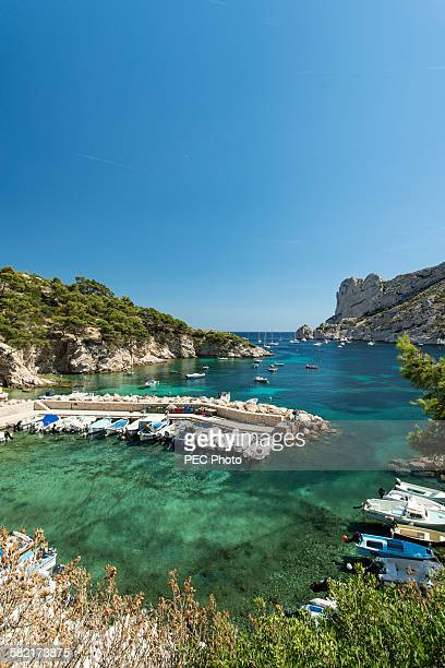 port sormiou - calanques stock pictures, royalty-free photos & images