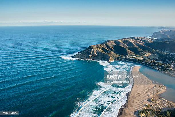 port st johns from the sky - eastern cape stock pictures, royalty-free photos & images