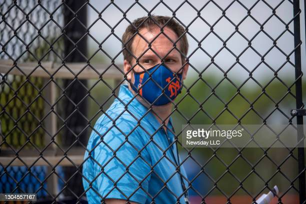 New York Mets acting general manager Zack Scott during a spring training workout on Feb. 24 in Port St. Lucie, Florida.