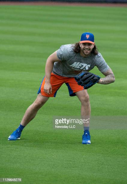 New York Mets pitcher Robert Gsellman Wednesday Feb 13 2019 during a spring training workout in Port St Lucie Florida
