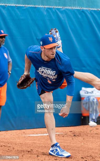 New York Mets pitcher Steven Matz during a spring training workout on February 11, 2019 at First Data Field in Port St. Lucie, Florida.