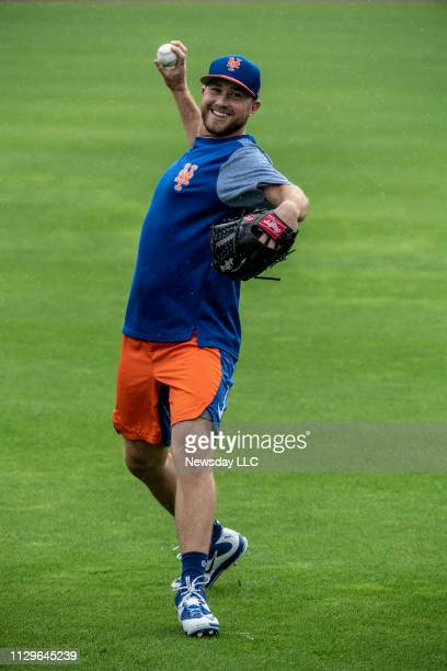 New York Mets pitcher Tim Peterson on February 13 2019 during a spring training workout in Port St Lucie Florida