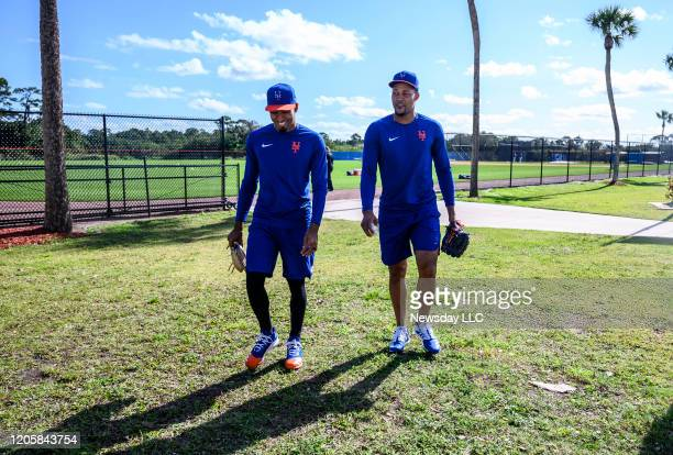 Port St. Lucie, Florida: New York Mets pitchers Edwin Diaz and Jeurys Familia at Clover Park in Port St. Lucie, Florida on February 9, 2020.