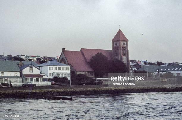 Port Stanley two days after recapture by British forces during the Falklands War June 1982
