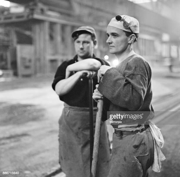 Port Talbot steel works. West Glamorgan, Wales, 30th April 1965.