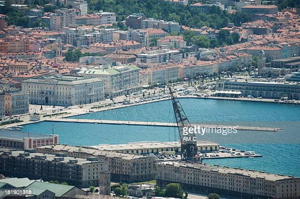 port, trieste, italy - porto marittimo foto e immagini stock