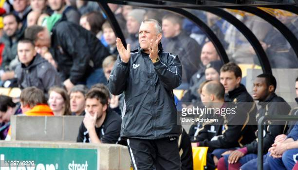 Port Vale Manager Mark Crew during their match with Bury 26th March 2011.