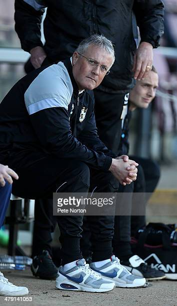 Port Vale manager Micky Adams looks on during the Sky Bet League One match between Coventry City and Port Vale at Sixfields Stadium on March 16 2014...