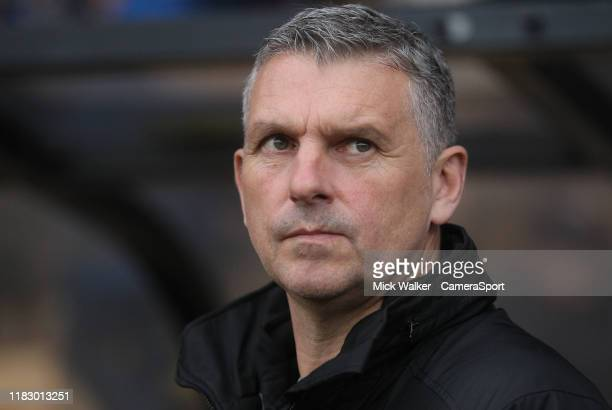 Port Vale's Manager John Askey during the Sky Bet League Two match between Port Vale and Carlisle United at Vale Park on November 16 2019 in Burslem...