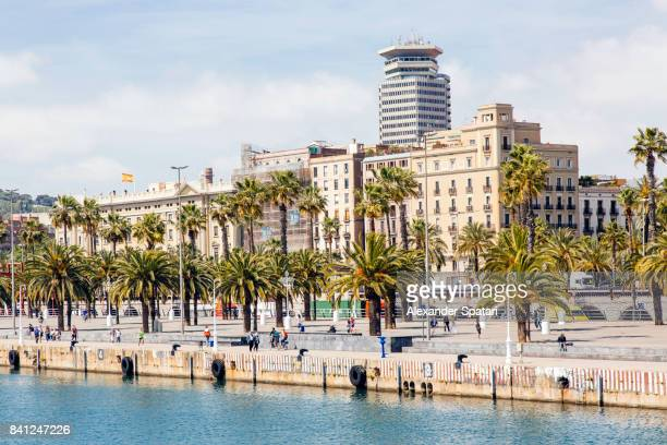 Port Vell waterfront in Barcelona, Spain