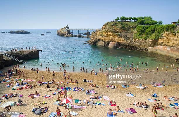 Port Vieux Beach in Biarritz
