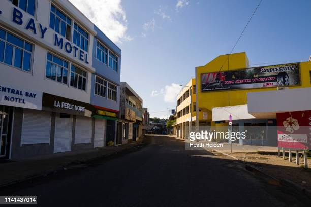 port vila streets empty on a sunday morning. - day of the week stock pictures, royalty-free photos & images