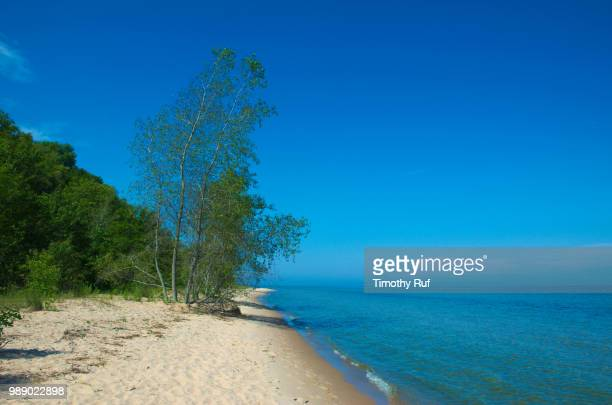 port washington, wisconsin beach - iron_county,_wisconsin stock pictures, royalty-free photos & images