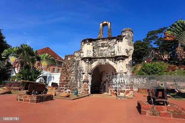 porta de santiago, malacca, malaysia - melaka state stock pictures, royalty-free photos & images