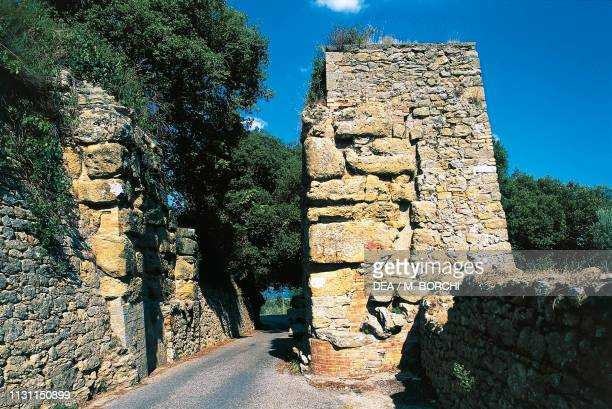 Porta Diana and part of the Etruscan walls Volterra Tuscany Italy Etruscan civilization 3rd2nd century BC