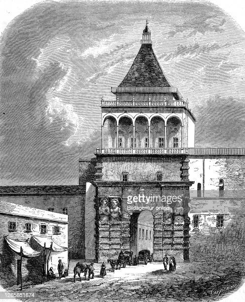 Porta Nuova at Palermo, Sicily, Italy / Porta Nuova in Palermo, Sizilien, Italien, Historisch, digital improved reproduction of an original from the...