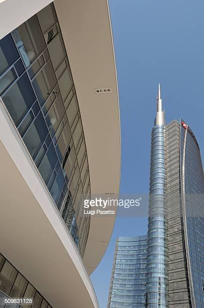 Porta Nuova, Milano Expo 2015. Skyscraper in Gae Aulenti square. Lombardy, Italy.