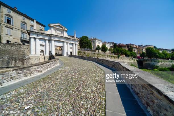 porta san giacomo (saint james door), bergamo, italy - mauro tandoi stock photos and pictures