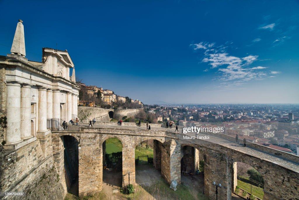 Porta San Giacomo, Bergamo, Italy : Foto stock