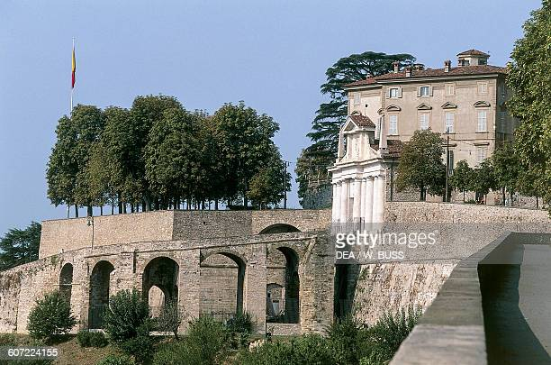Porta San Giacomo city gate Venetian walls of the Citta Alta Bergamo Lombardy Italy