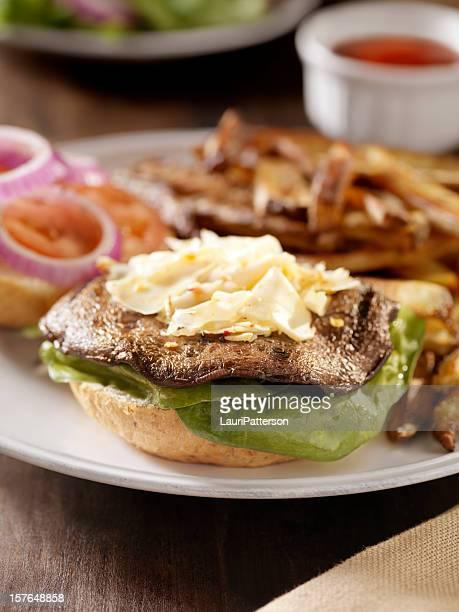 Portabello Mushroom Burger with Spinach