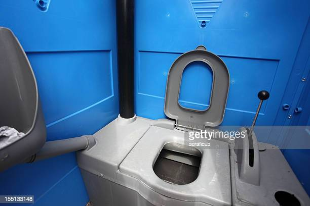 portable chemical toilet - portable toilet stock photos and pictures