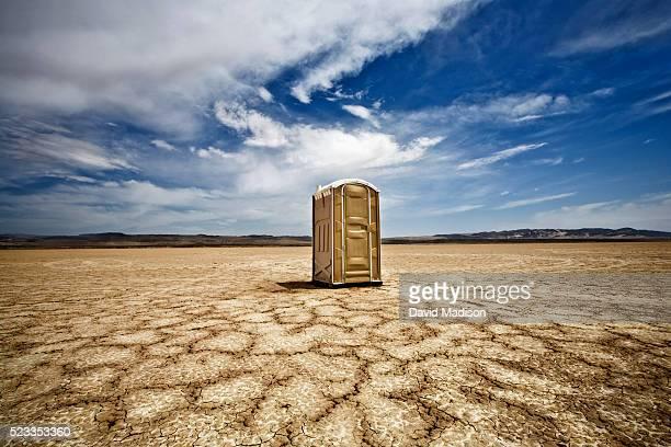 Portable Toilet in the Desert
