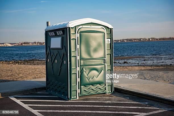 portable toilet - portable toilet stock photos and pictures