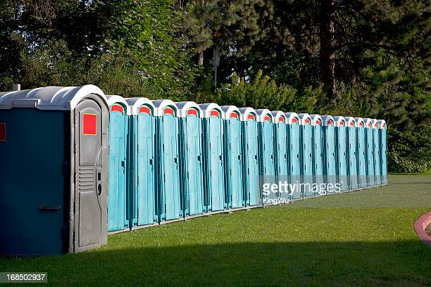 portable toilets - portability stock pictures, royalty-free photos & images