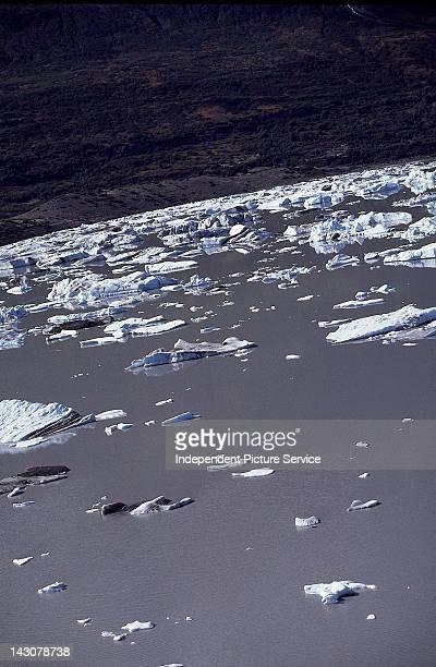 Portage Glacier Lake, Alaska.