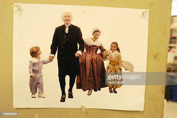 Portait of George Washington Mrs Washington and their two grandchildren at Studio Eis 3D design and fabrication studio November 18 2004 The portrait...