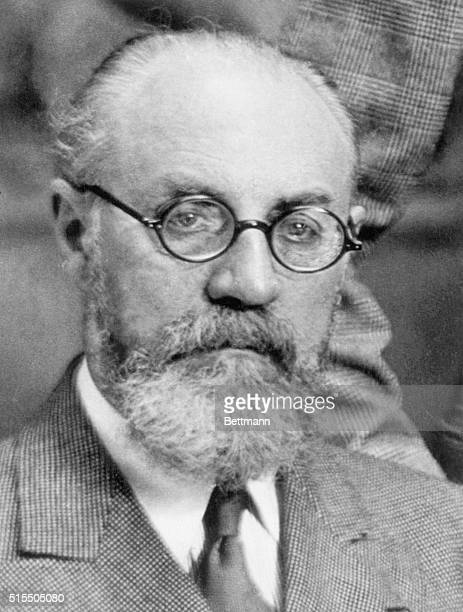 Portait of Henri Matisse . French painter, sculptor, and lithographer. Head and shoulders undated photograph.