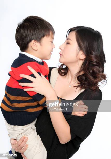 Portait of Japanese mother and son