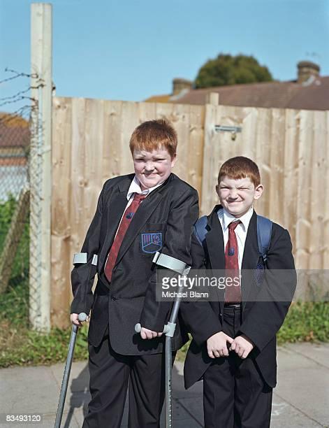 Portait of school children to camera