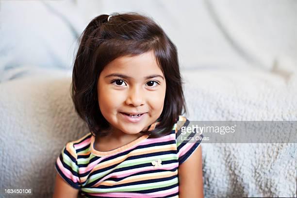 Portait of Smiling Toddler Girl