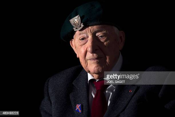 Portait taken on April 8 2014 in Paris shows Hubert Faure a former member of the Kieffer commandos a group of 177 French soldiers who took part in...