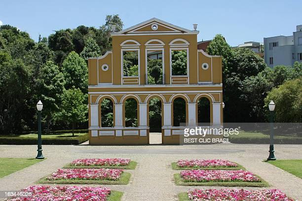 portal alemão - bosque alemão - curitiba stock pictures, royalty-free photos & images