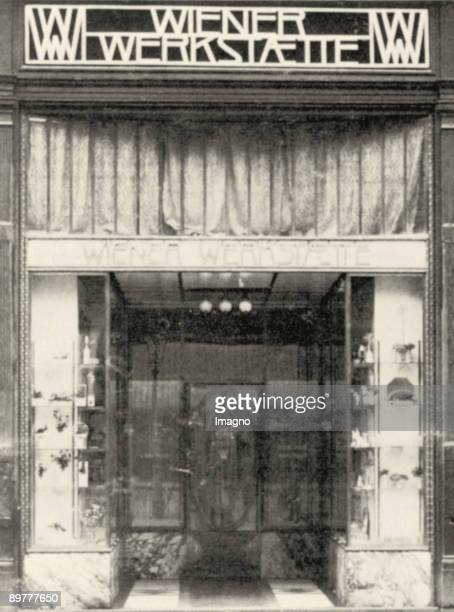 Portal of the premises of the Wiener Werkstaette in Vienna Inner City Graben 15 Photograph Around 1907