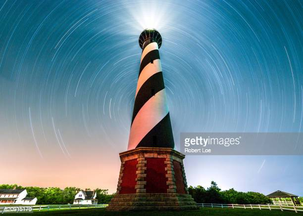 a portal to cape hatteras light house - cape hatteras stock pictures, royalty-free photos & images
